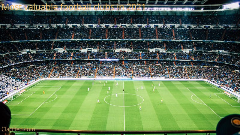 Full list of the top most valuable football clubs in the world