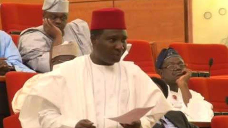 Nigerian Senator Jibrin Barau during a speech