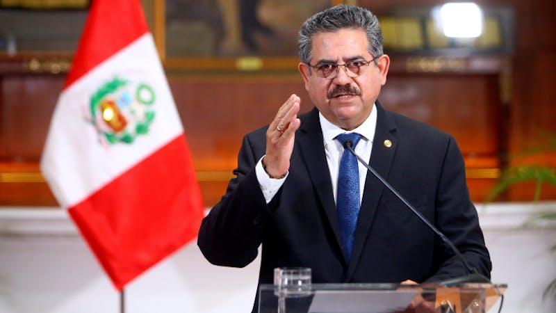 Interim President of Peru Manuel Merino has resigned from office