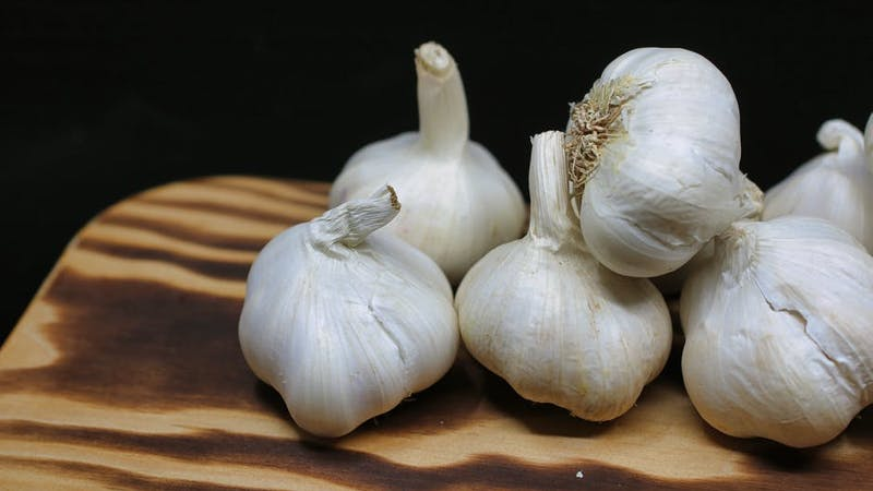 Garlic serves as both spice for food and a medicinal herb which can help you lose some weight