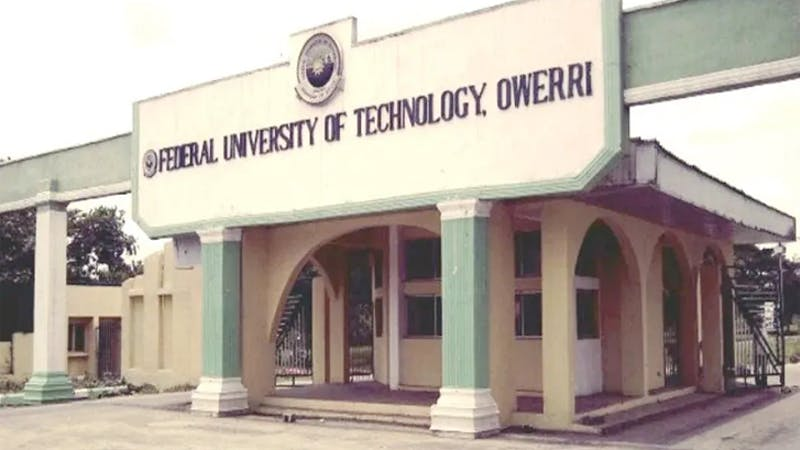 List of courses offered by Federal University of Technology Owerri, FUTO