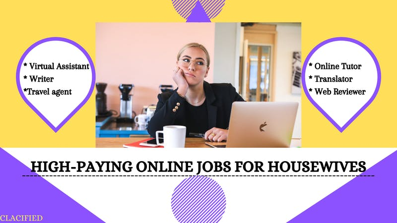 Graphic design image of a sit-at-home wife working at home using her laptop