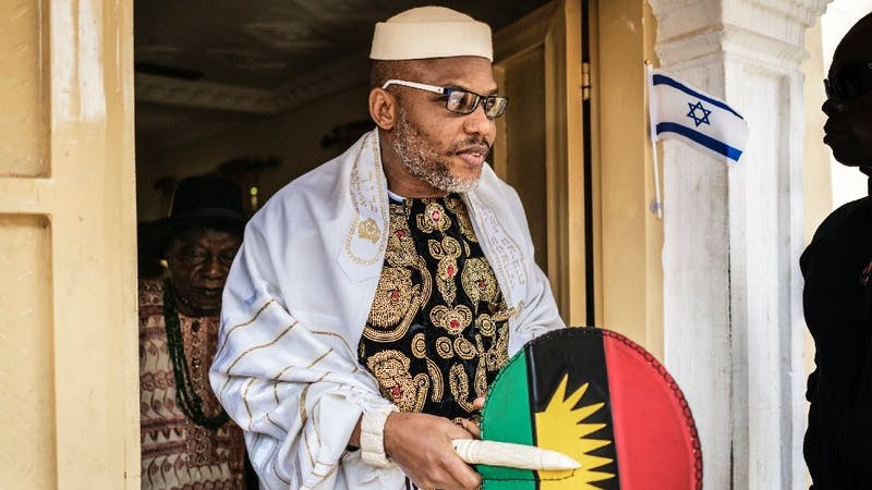 Nnamdi Kanu told the youths of Ohafia Abia State to join the EndSARS protest and capture Gov. Okezie Ikpazu