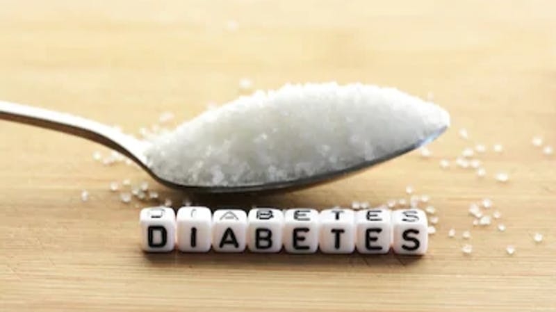 Diabetes, a metabolic condition caused by abnormally high blood sugar level