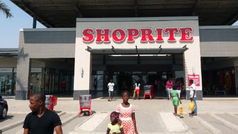 Customers moving in and out of the Shoprite shopping mall