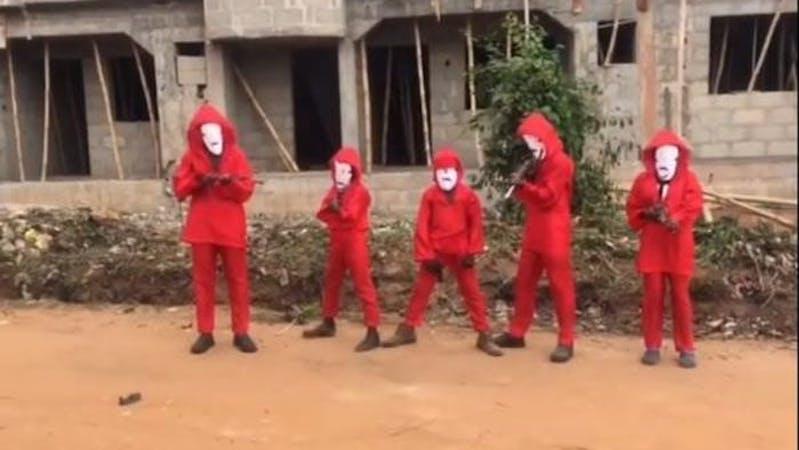 Ikorodu Bois recreating Money Heist Part 4 movie trailer