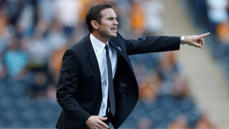 Chelsea current manager Frank Lampard directing players in the field of play