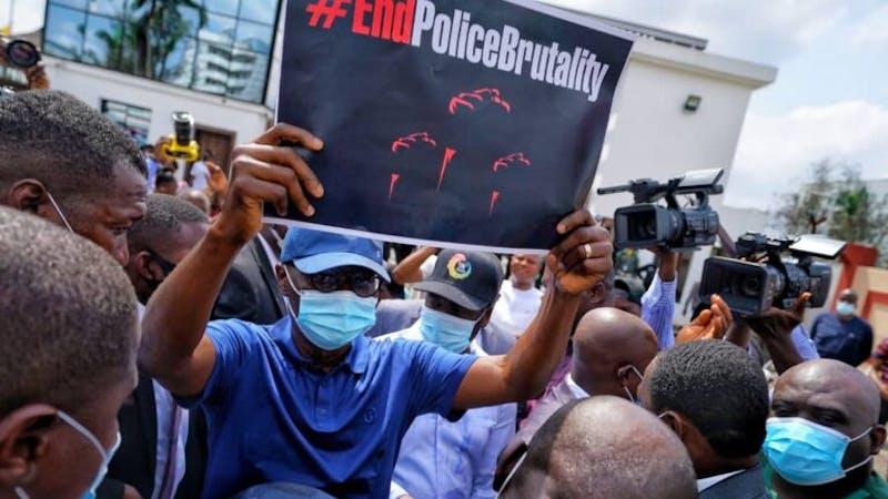 Sanwo-Olu joins EndSARS protest in Lagos