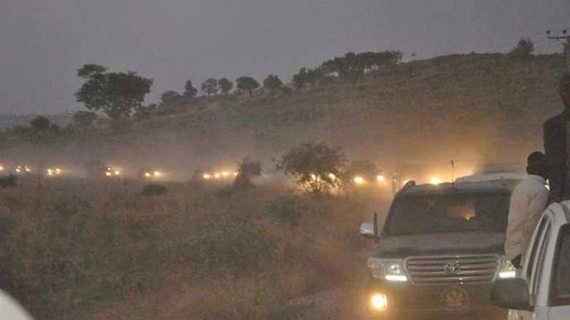 Borno Governor's convoy that was attacked
