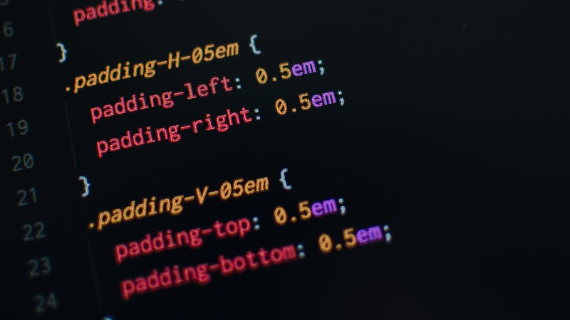 Image showing CSS codes
