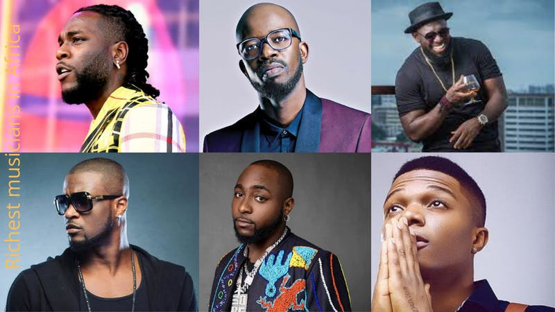 complete list of top richest musicians in Africa in 2021