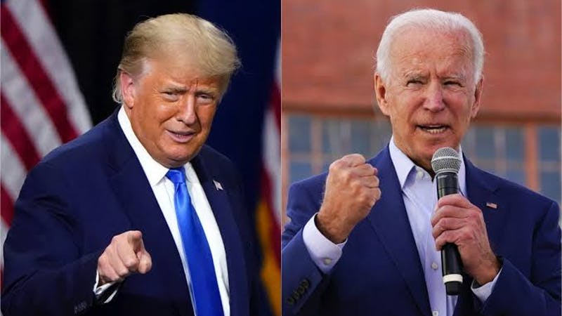 Joe Biden and Donald Trump race for the White House