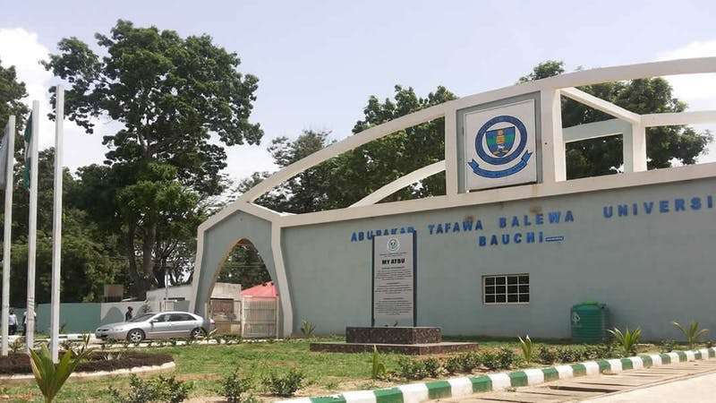 List of courses offered by Abubakar Tafawa Balewa University, Bauchi
