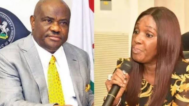 The governor of rivers state, Nyesom Wike and the former acting managing director of the Niger Delta Development Commission (NDDC), Joy Nunieh who accused the Minister of Niger Delta Affairs, Godswill Akpabio of sexual harassment