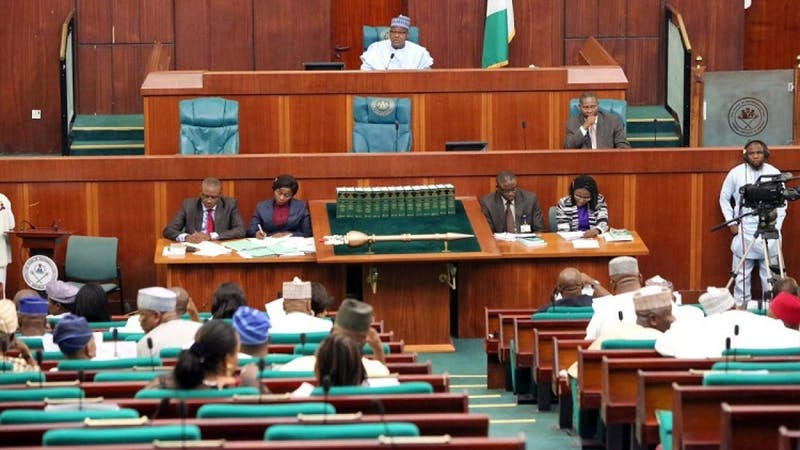 Nigerian House of Representative during a meeting