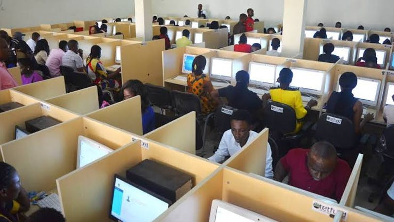 Examination candidates: First Class graduates take Oyo state teaching service test