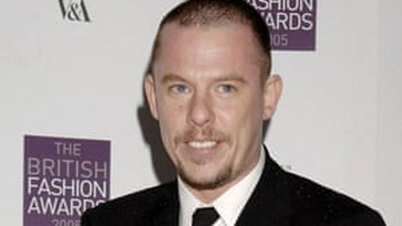 The renowned fashion designer, Alexander McQueen