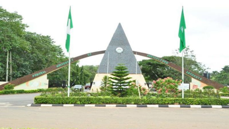 List of courses that is offered by Federal University of Agriculture, Abeokuta, FUNAAB