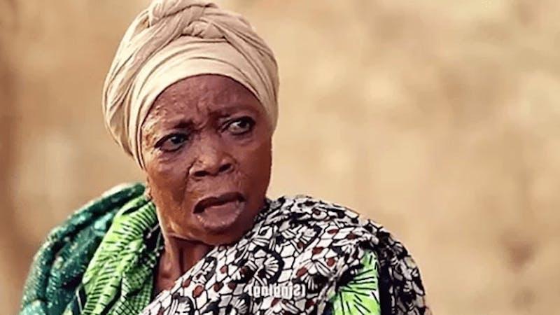 """Margret Dele Olayinka """"Mojoyinola"""" popularly called Iya Gbonkan."""