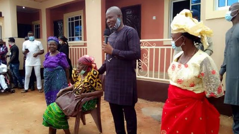 Honourable Nonso Smart Okafor, representing Nnewi North Constituency donates a three-bedroom bungalow to three childless widows
