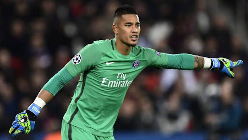 Paris Saint-Germain goalkeeper Alphonse Areola in action for the club