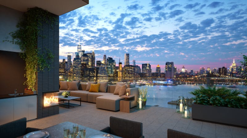A $20 million penthouse that shattered the record for the most expensive home sold in Brooklyn.