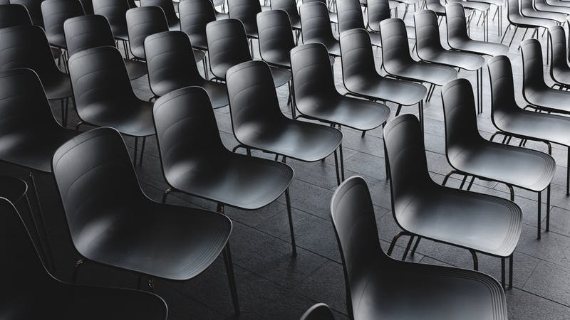 Sock image of an examination or conference hall seating arrangements