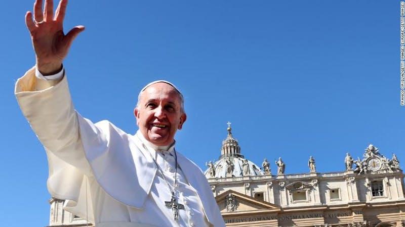 The leader of Roman Catholic Church Pope Francis