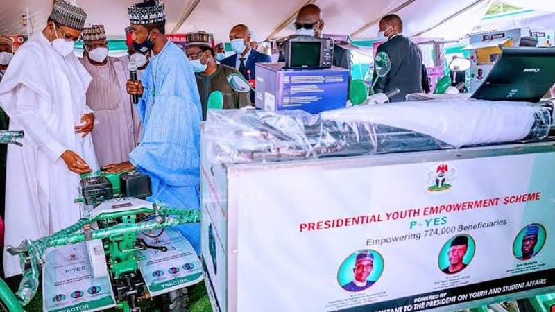 President Muhammadu Buhari launched PYES as a youth development and poverty alleviation program