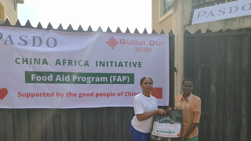 CHINA-AFRICA INITIATIVE: PASDO Distributes Food Items to 600 Poor Households