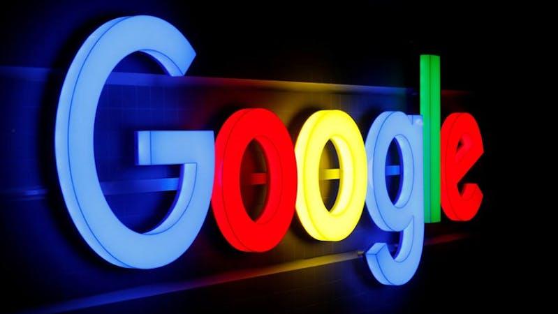 The logo of Google company
