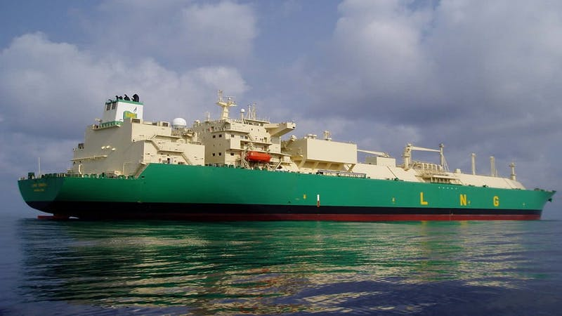 An oil ship owned by NLNG.