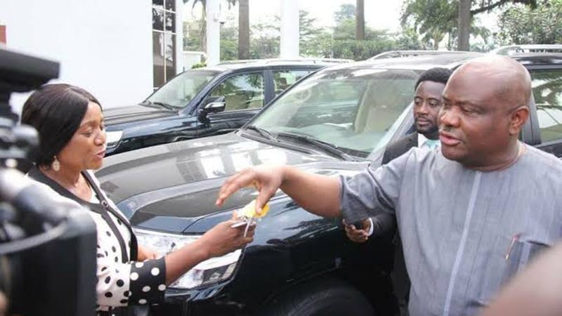 Rivers State Governor, Nyesom Wike distributes 15 SUV cars to members of National Assembly