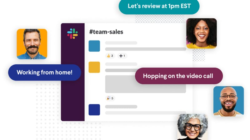 Picture showing communication among teams within slack.