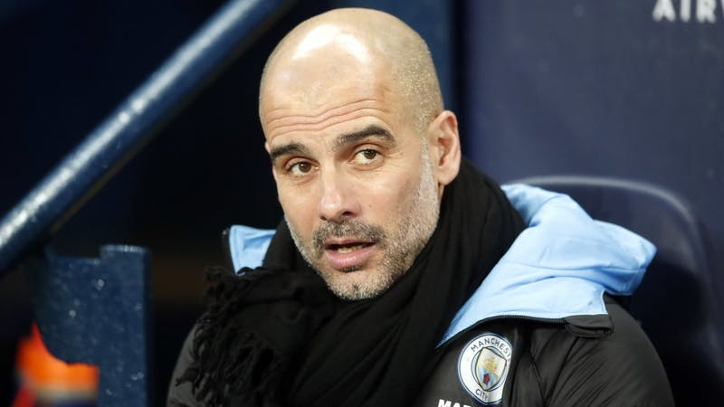 Manchester City manager Pep Guardiola during a home match at Etihad