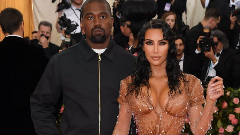 American rapper, Kanye West and his wife, Kim Kardashian