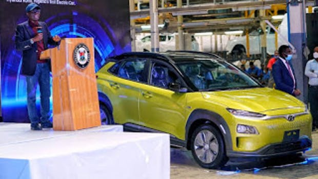 Lagos State governor Sanwo-Olu has unveiled the first electric car in Nigeria