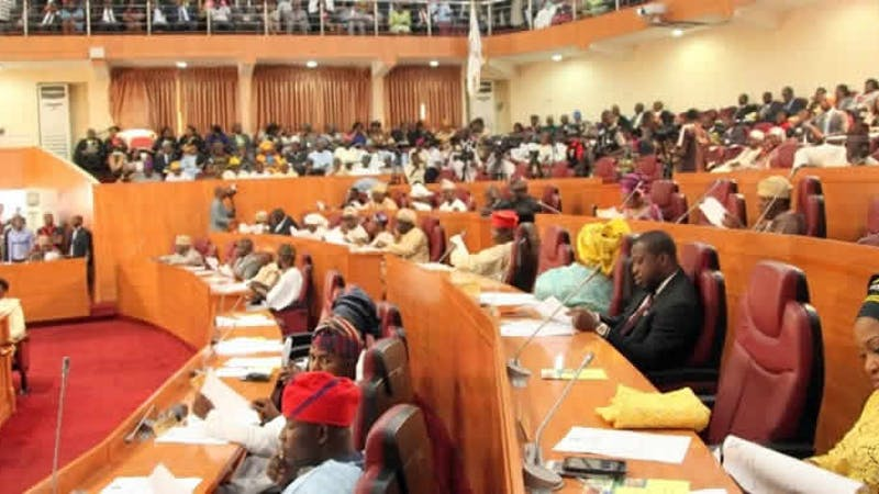 Lagos State House of Assembly during a plenary as they probe the usage of three missing helicopters
