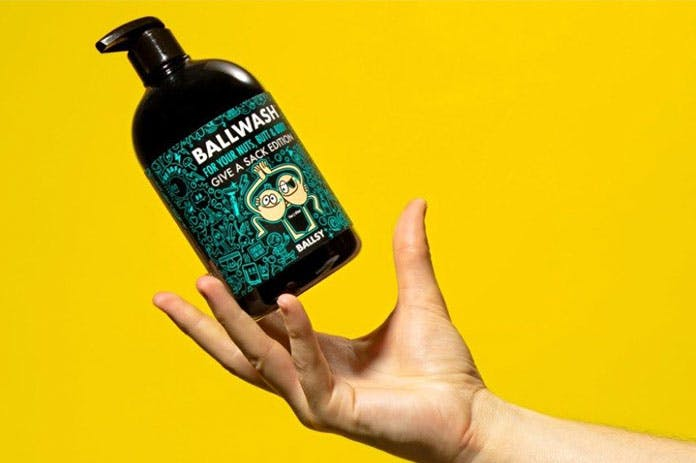 Mens natural body wash e-commerce company Ballsy.