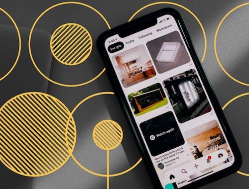 Browsing Pinterest on mobile