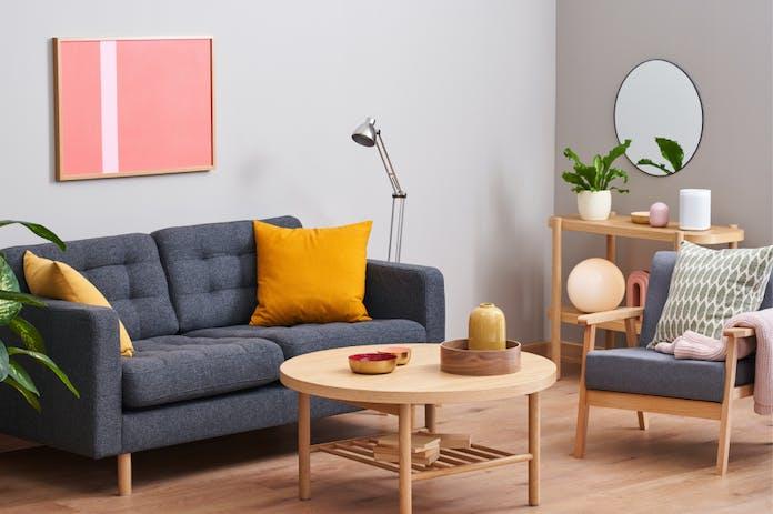 Living room with designer furniture