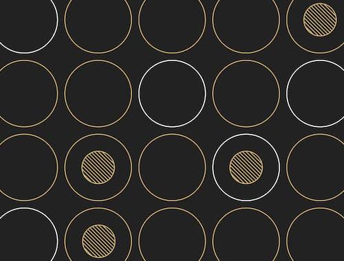 Grid of yellow circles