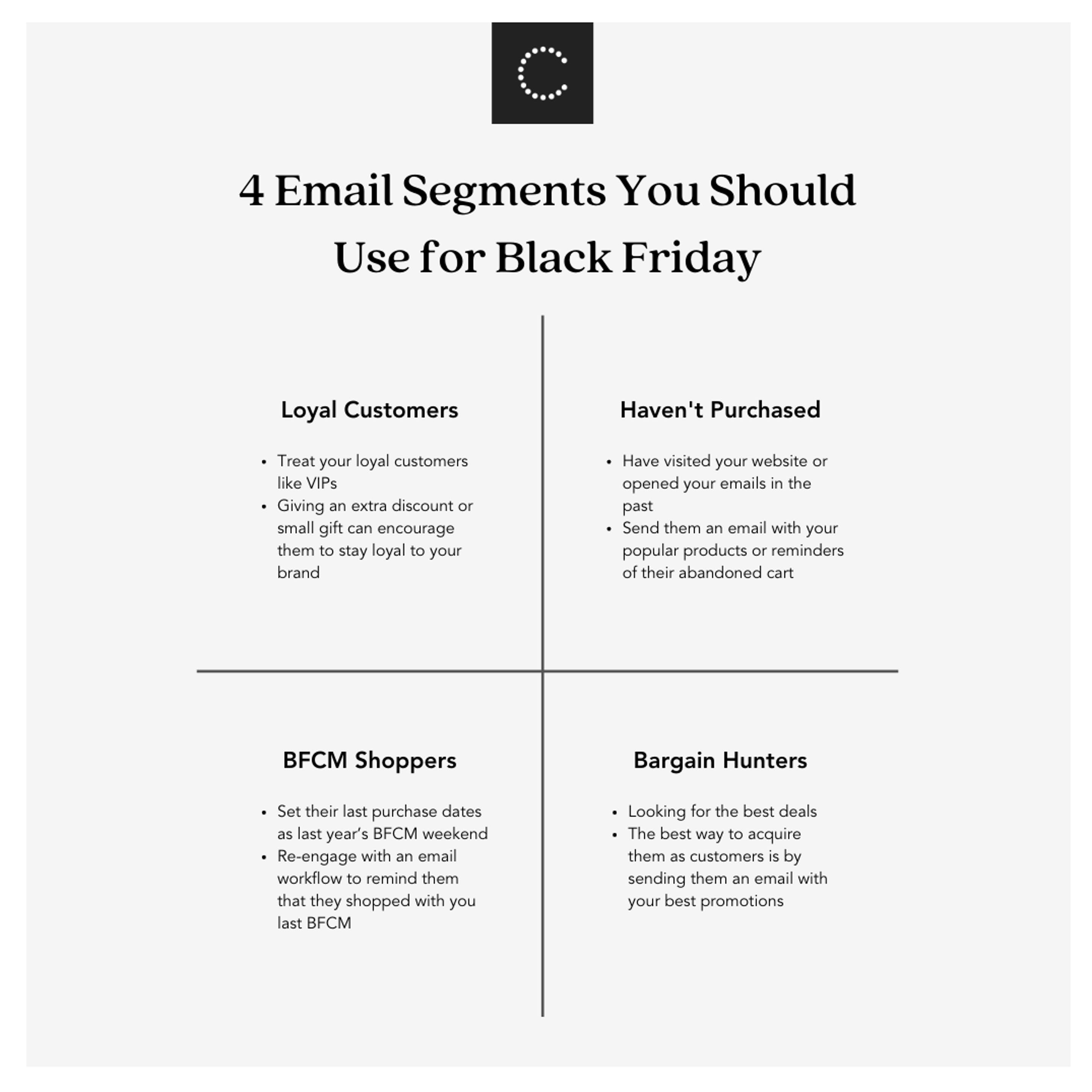 4 email segments you should use for black Friday