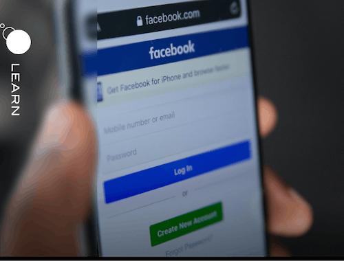 Facebook login  on mobile phone