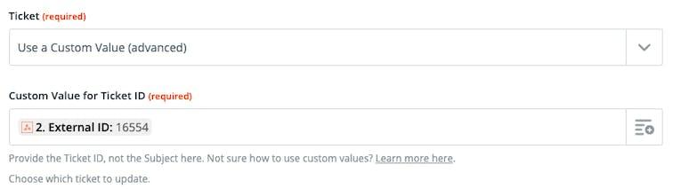 Custom request in Webhooks by Zapier