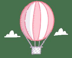 Hot air ballon illustration