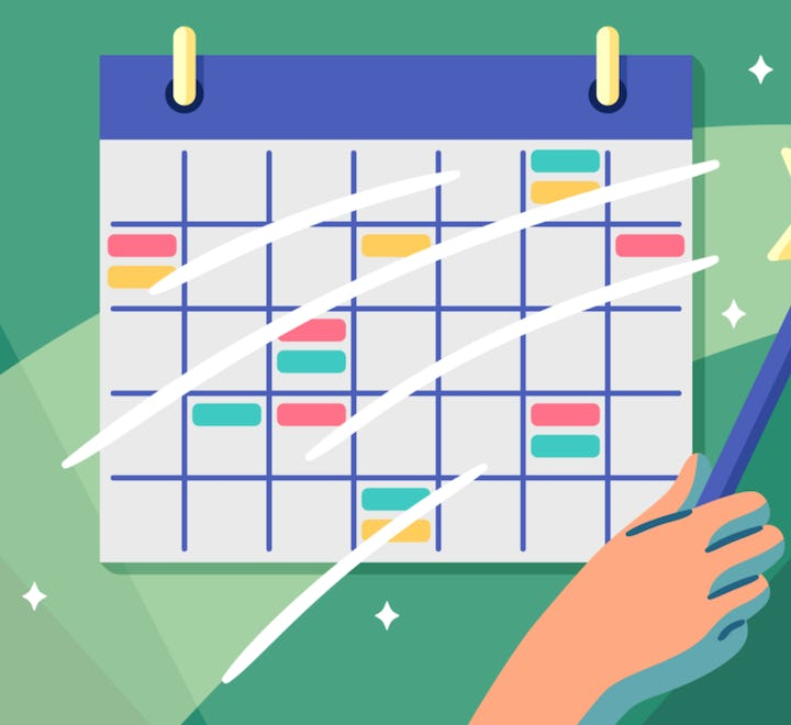Clubhouse calendar integration for software project management