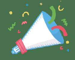 Ta-da celebration illustration