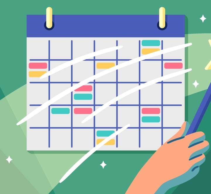 Shortcut calendar integration for software project management