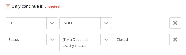 Adding an extra filter step to the Only Continue If filter in Zapier